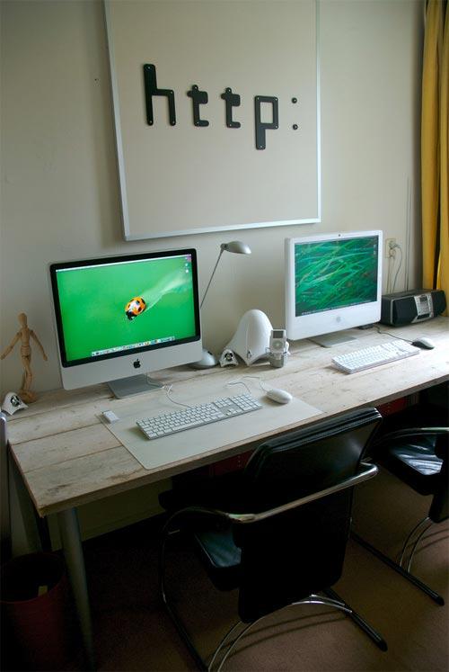 1811-21 Красивые компьютерные столы и рабочие места