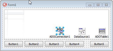 -на-форме-Delphi Как экспортировать данные из Access в Excel, используя ADO (Часть 1)