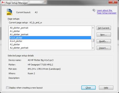 HP_named_page_setups Хитрости пакетной печати на HP DesignJet 7100 из Autocad