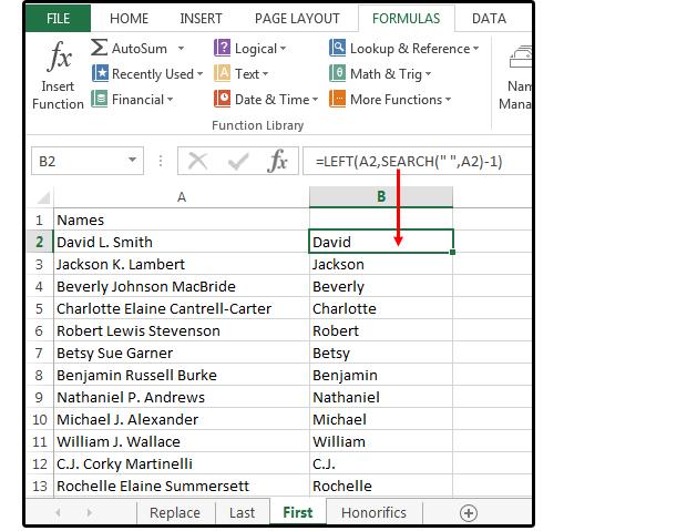 03 Способы использования текстовых функций для управления данными. Функции Excel.