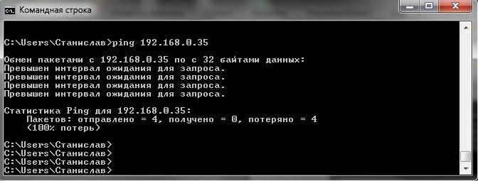 ping-6 Работа с сетью через командную строку в Windows.