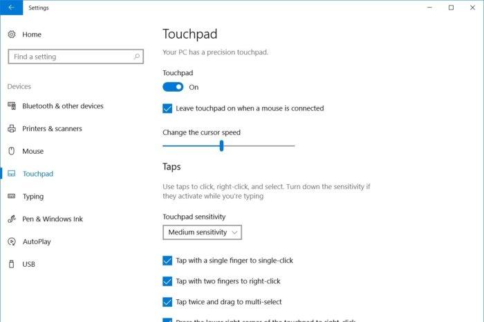 windows_10_touchpad_controls-100732335-large Не работает сенсорная панель (тачпад) на ноутбуке