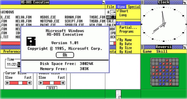 -Windows-1 Самая древняя Windows