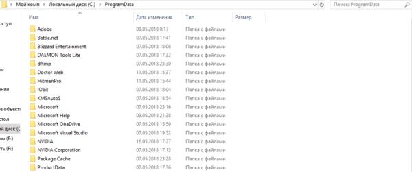 -с-папками-windows-4 Скрытые папки Windows
