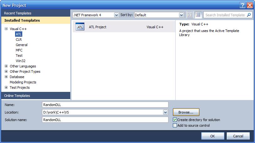 2_653874556785675464503.02 Как создать внешнюю компоненту для 1С:Предприятия (на MS Visual Studio 2010)