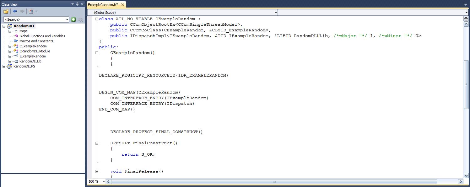 9_653874556785675464503.02 Как создать внешнюю компоненту для 1С:Предприятия (на MS Visual Studio 2010)