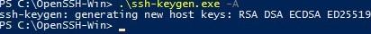 4-generate-ssh-key-ssh-keygen.exe_ Установка SFTP (SSH FTP) сервера в Windows с помощью OpenSSH