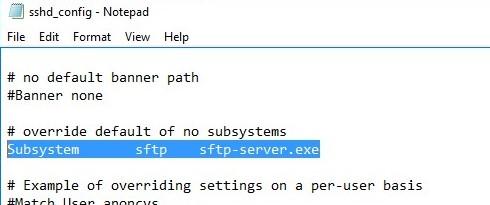 6-openssh-sshd-config-file Установка SFTP (SSH FTP) сервера в Windows с помощью OpenSSH
