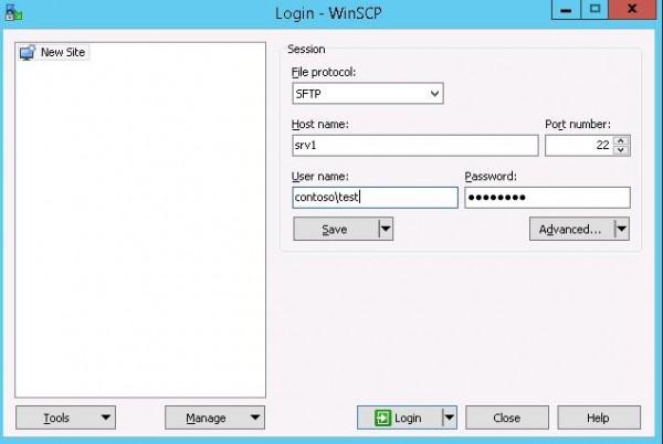 7-winscp-test-sftp-server-600x402-1 Установка SFTP (SSH FTP) сервера в Windows с помощью OpenSSH
