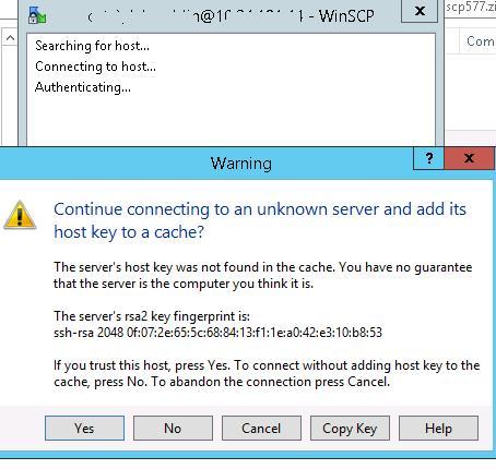 8-rsa2-key-warning Установка SFTP (SSH FTP) сервера в Windows с помощью OpenSSH