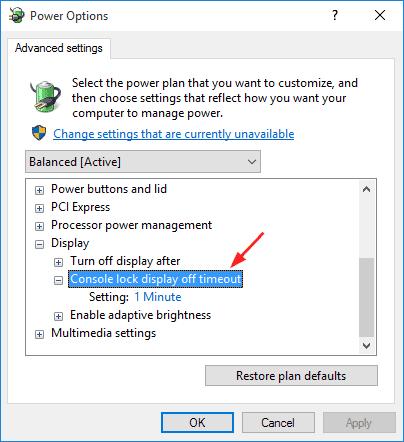 console-lock-display Предотвращение выключения экрана во время блокировки экрана (Windows 10)